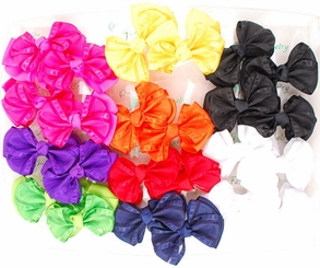 2 Bow Hair Clips (available in 9 colors)