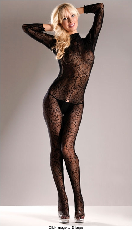 Long Sleeve Spiderweb Bodystocking