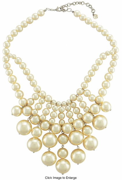Large Pearl Choker Necklace