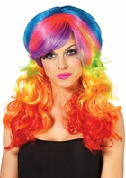 Rainbow Rocker Rave Wig