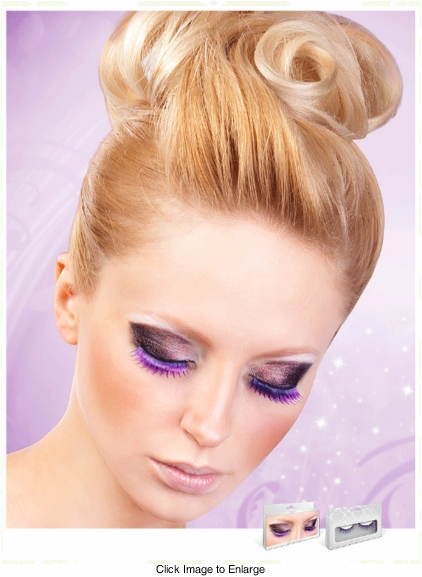 Medium Length Textured Purple Lashes
