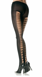 Lycra Lace-up Back Pantyhose