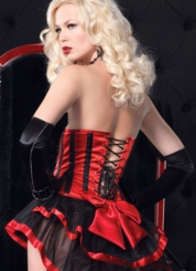 Red Satin Waist Cincher