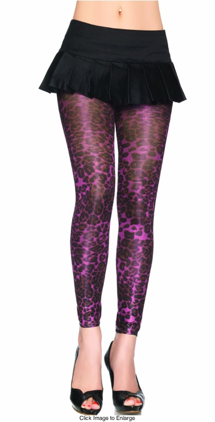 Shimmery Leopard Print Tights