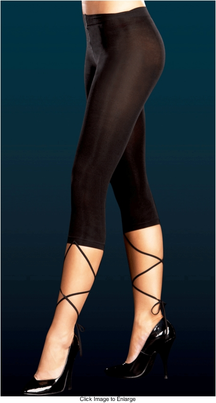 Stretch Knee Length Leggings with Wrap Around Straps