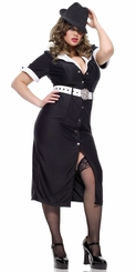 Gangster Betty Costumes with Money Sign Belt
