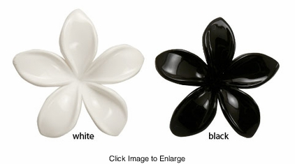 "2"" Wide Acrylic Flower Hair Clips"