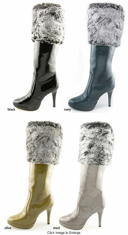 "4"" Faux Fur Boots ""Glora"" from Michael Antonio"