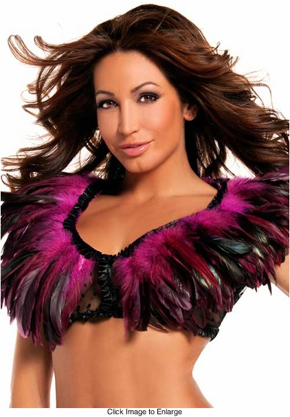 Rio Dancer Feather Top in Hot Pink