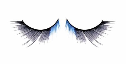 Textured Blue and Black False Lashes