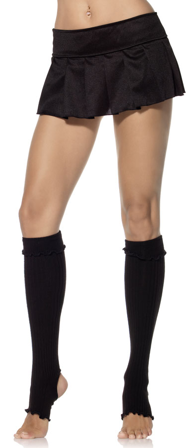 Ribbed Stirrup Leg Warmers