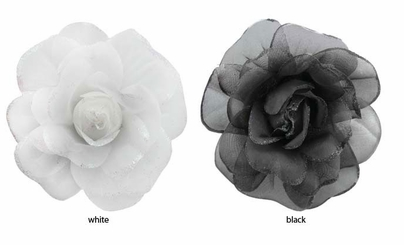 "5.5"" Sheer Flower Hair Clip"