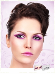 Medium Length Purple Lashes for $7.00