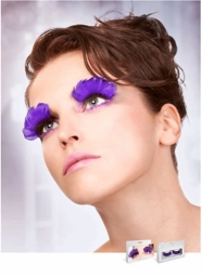 Purple Feather Lashes for $7.00