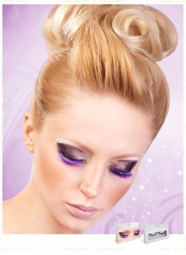 Medium Length Textured Purple Lashes for $6.00