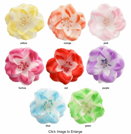 "*SALE* 4.5"" French Barette Flower Hair Clip"