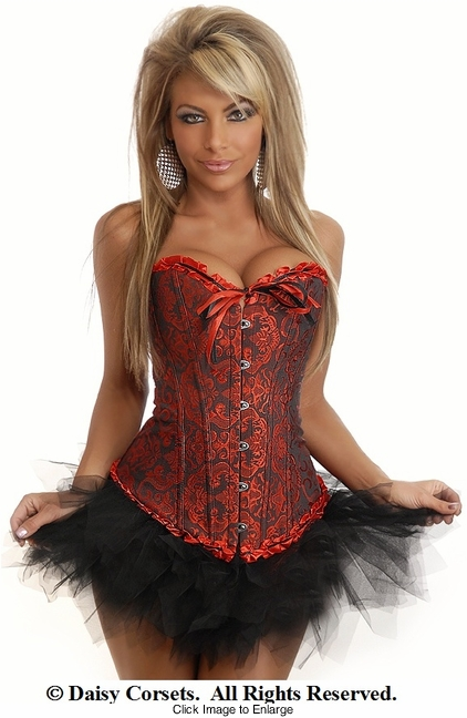 Vampire Red Corset and Black Pettiskirt