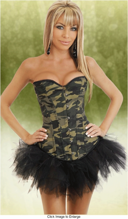 Camouflage Corset and Pettiskirt Set