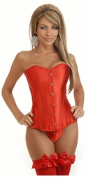 Classic Red Satin Corset
