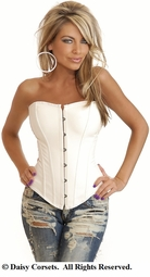 White Veggie Leather Corset