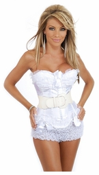 Bridal Corset with Belt for $55.99 (available in plus sizes, too)
