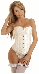 Embroidered Ivory Brocade Corset for $59.00