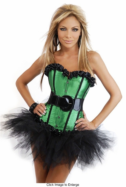Corset Top Christmas Elf Costume