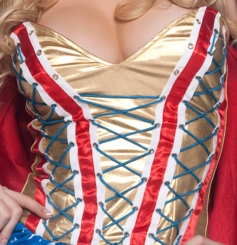 Corset Top Superhero Costume with Cape