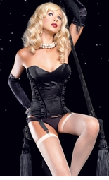 Danielle Corset with Sweetheart Bustline and Seam Ruffles