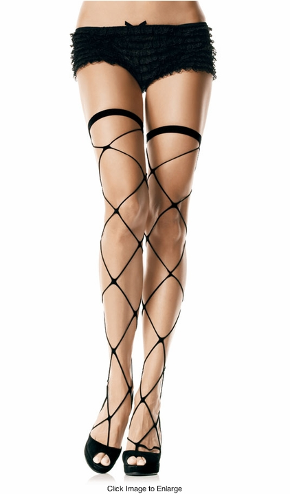 Super Net Thigh High Stockings