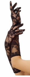 Elbow Length Flower Lace Gloves