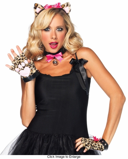 Costumes-3-Piece Leopard Cat Kit