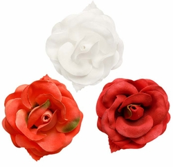 "2.5"" Elegant Rose Flower Hair Clip (available in 25 colors)"