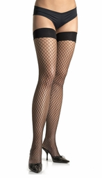 Industrial Fishnet Thigh High Stockings in 5 Colors