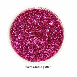 Fuchsia Color of Luxe Glitter Powder for Eyeliner and Eye Makeup