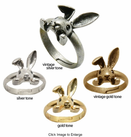 Alice in Wonderland Rabbit Bunny Ring
