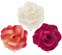 "4"" Stunning Large Flower Hair Clip (Available in 18 colors)"