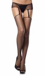 Industrial Net Fishnet Garterbelt and Stockings Set
