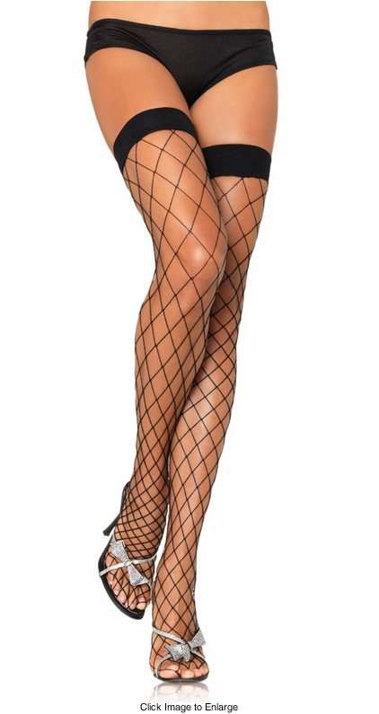 Fence Net Fishnet Thigh High Stockings