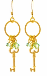 "2.5"" Designer Key Earrings"