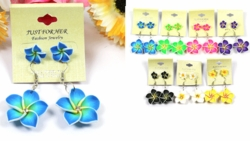 Two Pairs of Hawaiian Flower Earrings