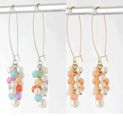 "3.5"" Dangle Hand Made Designer Bead Earrings"