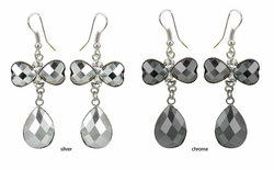 "2.15"" Faceted Bow Earrings"