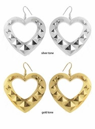 "2.15"" Studded Heart Earrings"