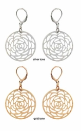 "1.5"" Circle Rose Earrings"