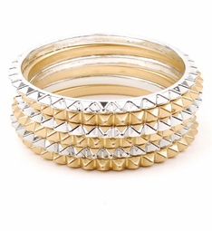 6 Stackable Bangle Bracelets