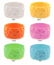 "1.5"" Wide Textured Acrylic Bracelet"