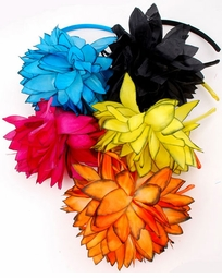 Flower Headband with Contrast Edges
