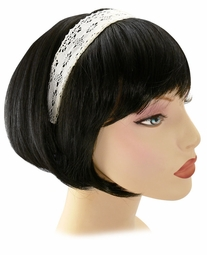 White Crochet Lace Headband for $3.95