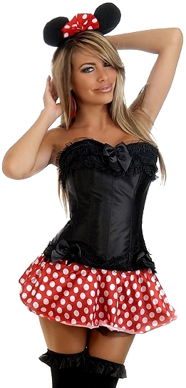 Corset Minnie Mouse with Ears and Skirt